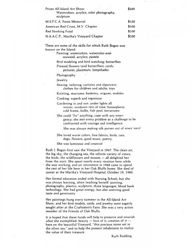 Ruth J. Bogan - Ruth Redding letter 2